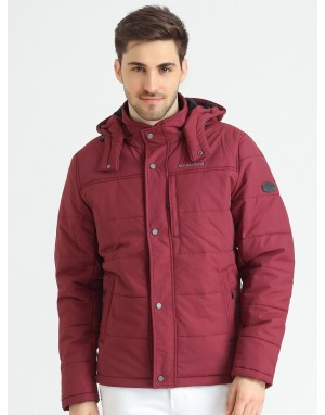 Men  Quilted Puffer  Jacket  With Fleece linning  Wine