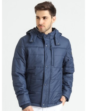 Men  Quilted Puffer  Jacket  With Fleece linning  Navy