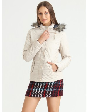 Women Quilted Jacket Pearl