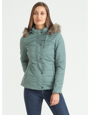 Women Quilted  Jacket Mint
