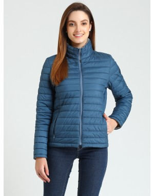 Women Quilted  Reversible Jacket Teal