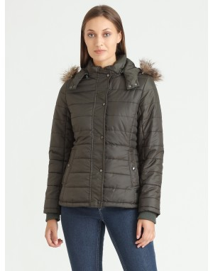 Women Quilted Bomber jacket Olive
