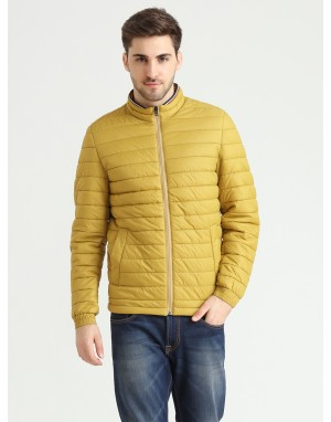 Men  Quilted Puffer  Jacket  Banana