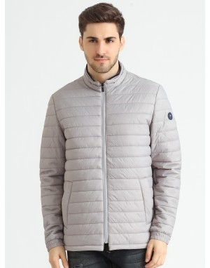 Men  Quilted Puffer  Jacket Grey