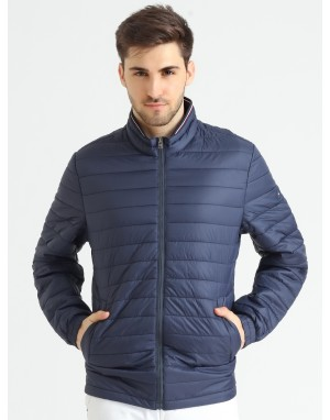 Men  Quilted Puffer  Jacke Navy