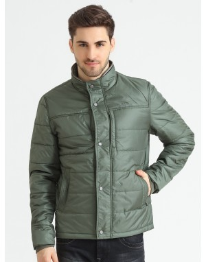Men  Quilted Puffer  Jacket  Olive