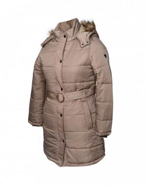Ladies Jacket belted Beige